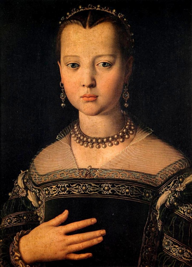 Renaissance-women-portraits-paintings-of-women-Agnolo-Bronzino-canvas-painting-oil (11)